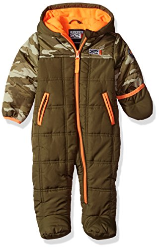 Weatherproof Baby Boys' Pram (More Styles Available), W206-Olive, 3-6 Months Baby Boy Snowsuit