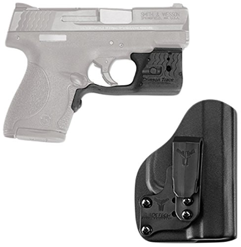 Blade Combo Green (Crimson Trace LL-801G-HBT Laserguard Pro, M&P Shield, Green with Blade Tech IWB Holster, Boxed)
