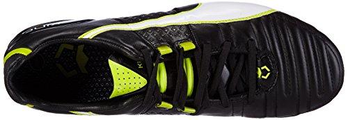 Puma King II FG - zapatillas de fútbol de cuero hombre Negro - Schwarz (black-white-sulphur spring 04)