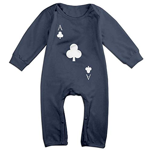 Baby Boy Jumpsuit Poker ACE of Clubs Toddler Jumpsuit Navy]()