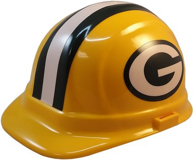 Green Bay Packers Hard Hats, ERB Style with Standard Suspension