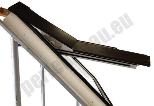 AFG Schweiz Skylight Kunststoff Dachfenster PVC 55 x 98 mit Eindeckrahmen Schwingfenster Dachfl/ächenfenster