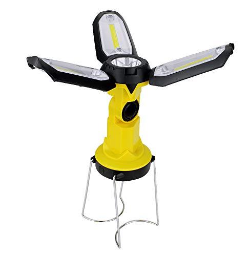HWTP Camping Lights - Portable Lanterns, six Lighting Modes, Dual-Form Free Rotation Tent Lights, USB/Battery Charging, COB Work Hiking Camping Lights ()