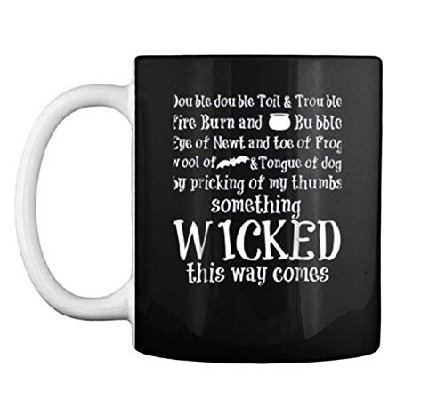 Double Double Toil And Trouble Halloween Funny Mug Coffee Mug (White, 11 oz)