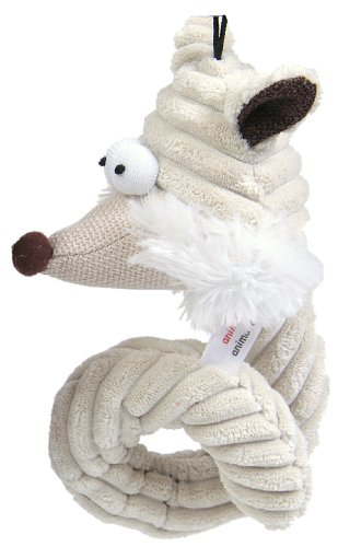 Curley Cord - Animate Jumbo Cord Curley Fox Head Toy Cream 7.5