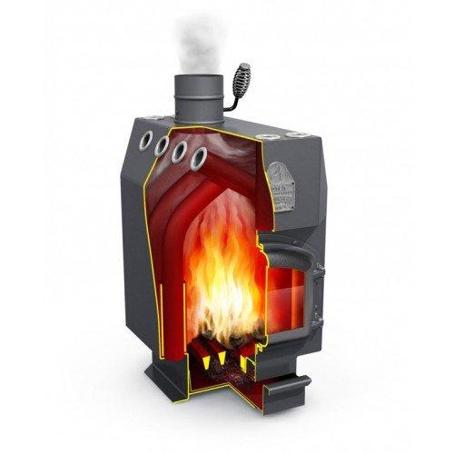Chimenea Horno de aire caliente Horno de madera Horno de taller ...