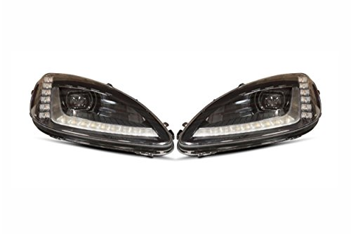 XB LED Headlights: 2005-2013 Chevy Corvette Bi-LED Headlights (Black/Set)