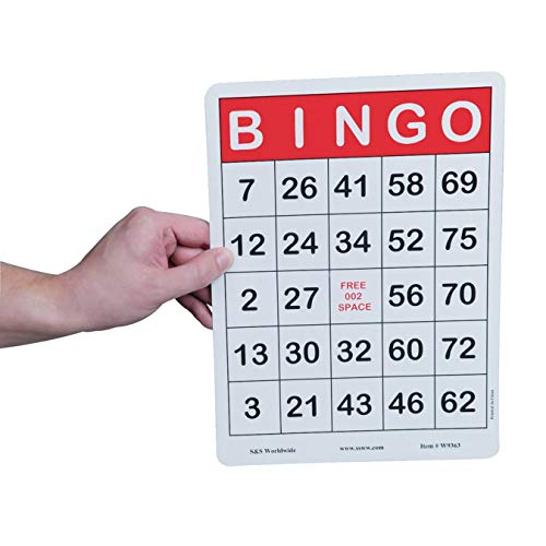 (S&S Worldwide Jumbo Bingo Cards (Pack of 100) )