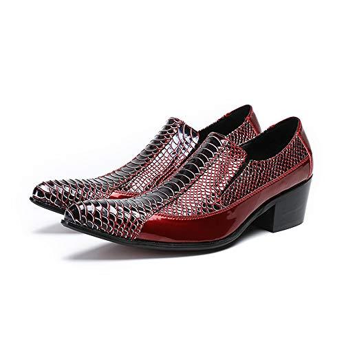 signori punta amp;Baby a Resistente Sunny SnakeSkin scarpe EU Oxfords Rosso slittate Premium Uomo Dimensione Color vera Texture all'abrasione pelle Oxfords verniciata 37 Rosso in Pwwdq6nCW