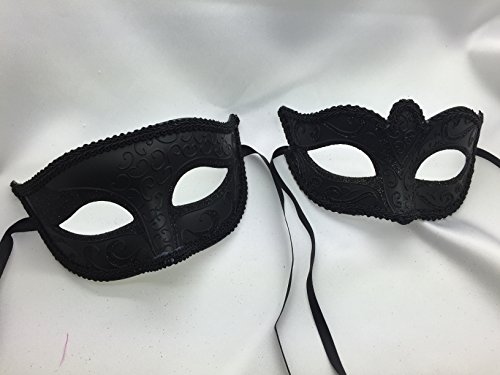 [Couples Masquerade Mask, Charming and Simple Mask, Black Masquerade Mask, Mens Masquerade Mask, Mask Mardi Gras Masks, Mardi] (Couples Dance Costumes)