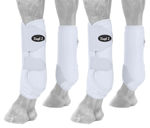 Tough 1 Extreme Vented Sport Boots Set, White, Medium by Tough 1 (Image #1)