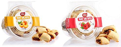 Katz, Gluten Free Fruit Bar Bites Variety Pack, 11 Ounces, (Pack Of 2)