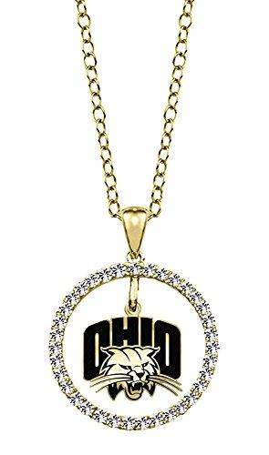 Ohio University Bobcats 14kt Yellow Gold and Diamond Circle Charm Pendant