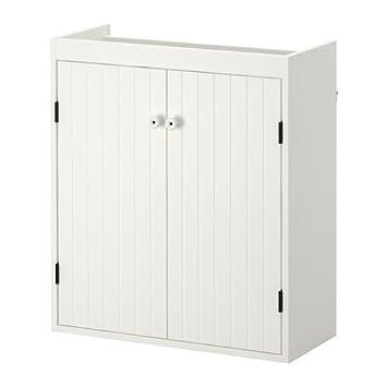 Amazon.de: IKEA silverAN - Waschbecken Schrank mit 2 Türen, weiß â ...