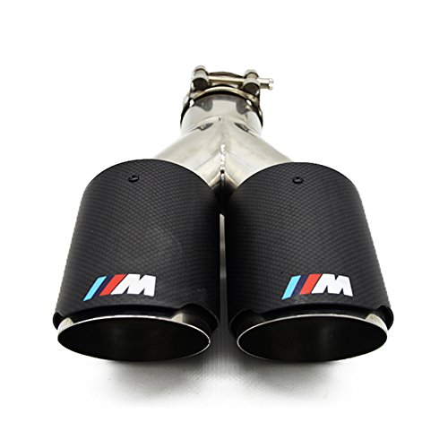 Carbon Fiber Exhaust Tips for BMW with M-POWER M Performance Muffler Pipe 57mm 2.25