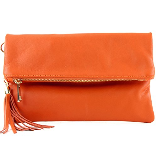 à de en cuir sac bandoulière T54KR ital en Sac modamoda croco daim Orange pochette 0XIdxnw4Iq