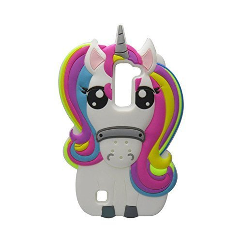 LG Stylo 2 Case,LG Stylo 2 Plus Case,Awin 3D Cute Cartoon Rainbow Unicorn  Horse Soft Silicone Rubber Case for LG G Stylo 2 LS775 K520 / LG Stylus 2