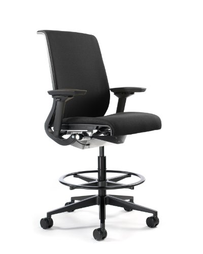Used, Steelcase Think Fabric Stool, Black for sale  Delivered anywhere in USA
