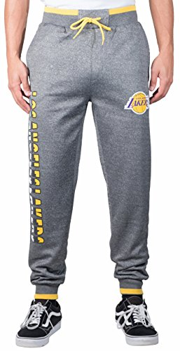 UNK NBA Adult Men Jogger Pants Active Basic Bounce Fleece Sweatpants, Charcoal, Medium