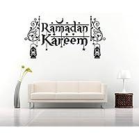 Ramadan Kareem Calligraphy Arabic Islam Wall Sticker Vinyl Decal (11''x19'',Black)