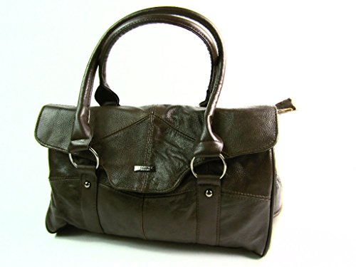 The Leather Emporium , Damen Schultertasche Braun Dunkelbraun