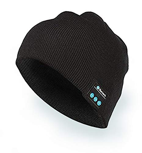 HanPro Bluetooth Beanie, Rechargeable Unisex Wireless Headphone Beanie With Control Panel, Removable Headphones, charges Via USB, Unique & Delightful Christmas Gift For Your Friends by HANPURE