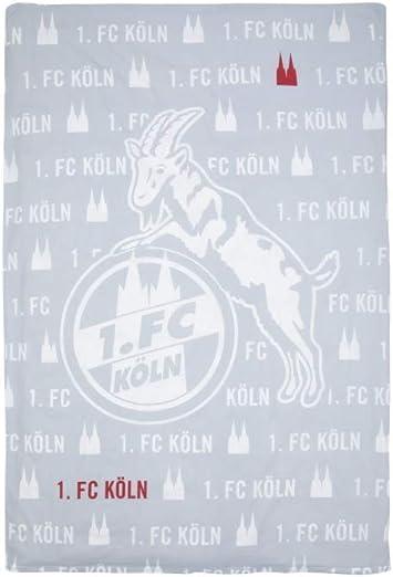 FC K/öln Bettw/äsche 1 Wendebettw/äsche Logo GRAU 4030183