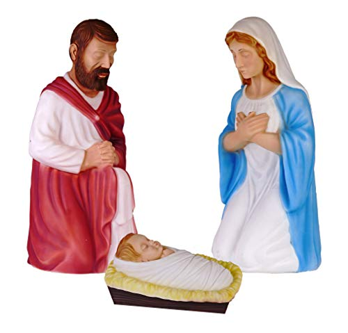 Outdoor Lighted Blow Mold Nativity Set