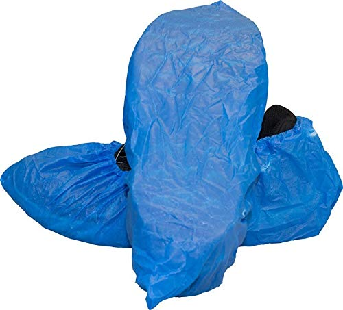 CleanPro Polyethylene Shoe Covers (Pack of 300) (Extra Large, Blue)
