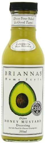 Brianna's Honey Mustard Dijon Dressing, 12-Ounce Bottles (Pack of ()