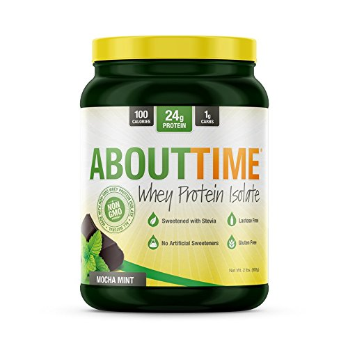 SDC Nutrition About Time Whey Protein Isolate, Mocha Mint, 2 Pound (Mocha Mint)
