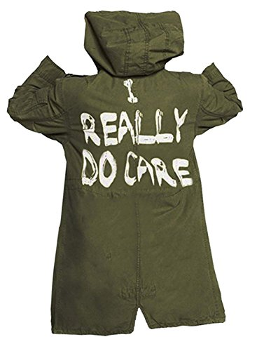 NM Fashions Womens Melanie I Really do Care with Hoodie Meant to Counter Anti-Trump Protest Cotton Jacket Coat