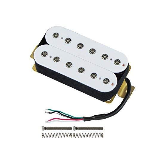 - FLEOR Bridge Pickup Double Coil Humbucker Pickups for Electric Guitar Pickup-White