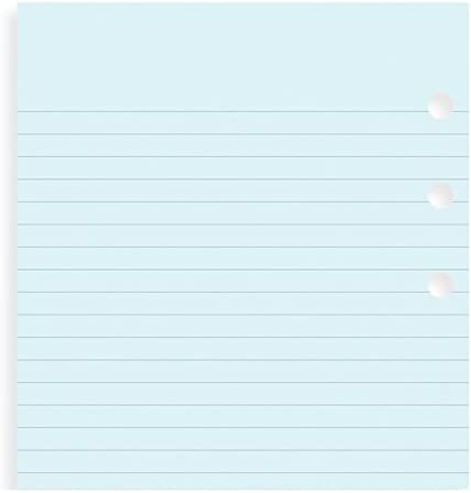 30 Sheets Blue Filofax Ruled Notepaper Refill for Personal Organizers 13301