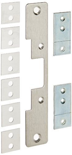 Universal Strike Plate (HES Stainless Steel 503 Faceplate for 5000 Series Electric Strikes for Cylindrical Locksets Includes Universal Mounting Tabs, Satin Stainless Steel Finish)