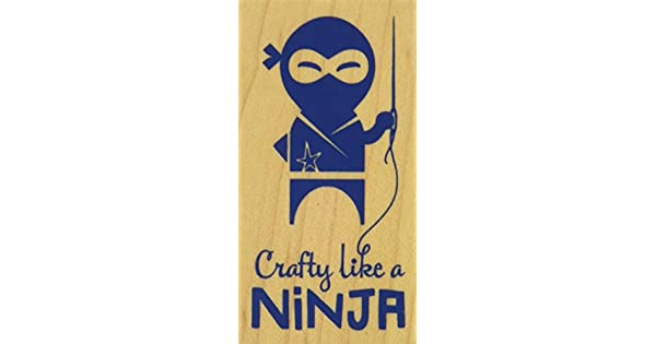Amazon.com: Inkadinkado Crafty como una Ninja Montada sello ...