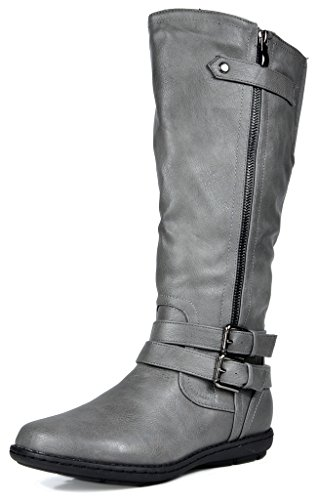 DREAM PAIRS Women's New Veronica Grey Faux Fur Knee High Winter Snow Boots Size 7 B(M) ()