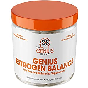 Gut Health Shop 41pYPhbwhyL._SS300_ Genius Estrogen Balance – DIM Supplement w/Grape Seed Extract, Dual Estrogen Blocker for Men & Hormone Balance for Women…