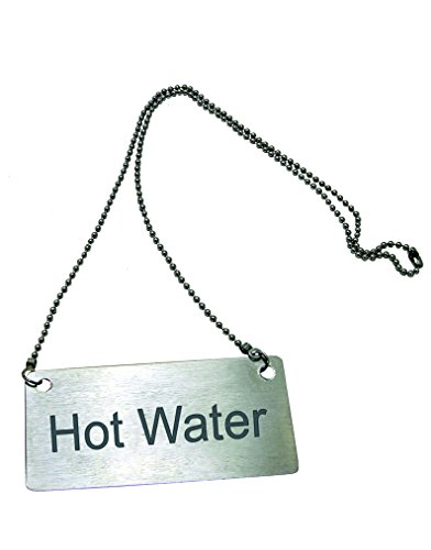 Stainless Steel Hanging Chain Hot Water Sign