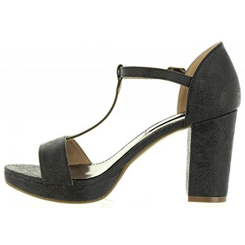 SERPIENTE 30559 Xti Negro Femme pour Sandales qWvS7