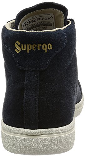 Superga 4531-Sueu, Sandalias con Plataforma Unisex Adulto Blue