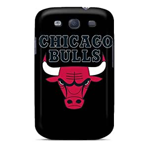 Anti-Scratch Cell-phone Hard Covers For Samsung Galaxy S3 With Unique Design Trendy Chicago Bulls Pictures JamieBratt