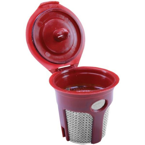 SOLOFILL K3 CHROME CUP Chrome Refillable Filter Cup for Keurig(R) (Single) PET2