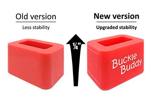 Buckle Buddy Car Seat Belt Buckle Holder (Pack of 2) Car Seat Buckle Helper Booster Seat Buckle Holder Upgraded Larger Design Red