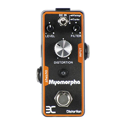 (EX Myomorpha Distortion Guitar Effect Pedal 2 Modes(Vintage/Turbo) True Bypass)