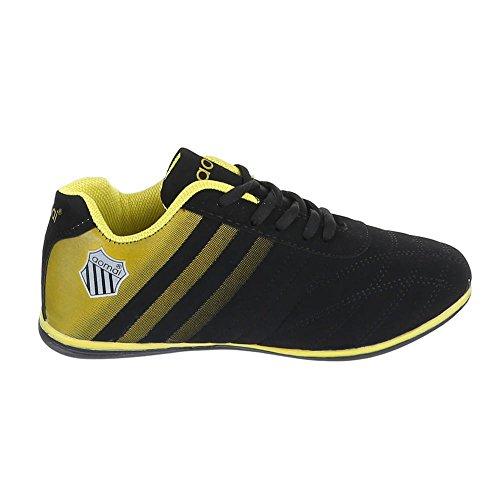 Ital-Design - Zapatillas de casa Mujer Negro - negro / amarillo