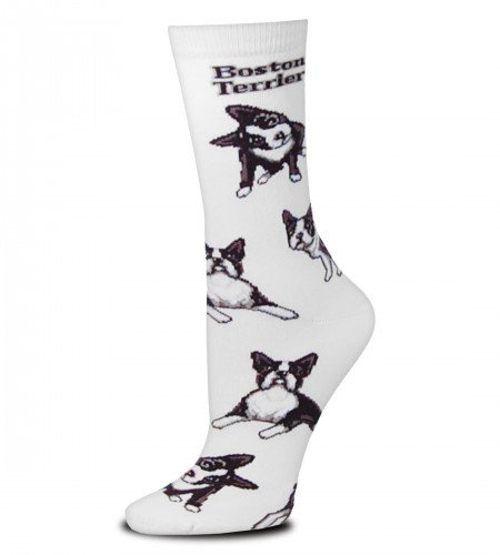 For Bare Feet Women's FBF Originals Novelty Dog Socks, Boston Terrier Poses, - Sock Womens Terrier