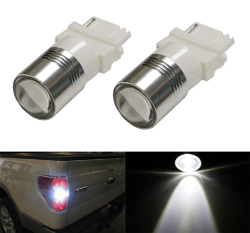 iJDMTOY (2) Xenon White High Power 3156 3157 LED Backup Reverse Light Bulbs Powerd By 5W CREE XP-E LED ()