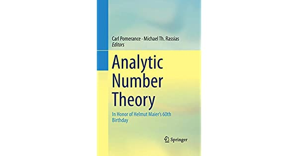 analytic number theory in honor of helmut maier 16 birthday