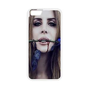 """Qxhu Lana Del Rey patterns Hard Case Back Cover for Iphone6 Plus 5.5"""""""
